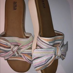 A.N.A Women's multi-color wedge sandals size 9.5